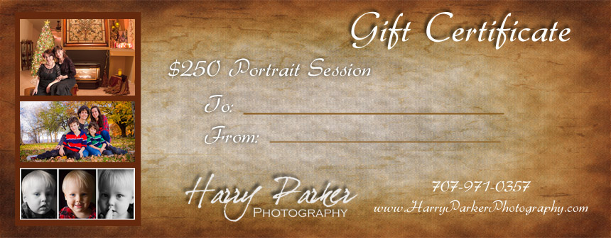 Harry Parker Photography Gift Certificate
